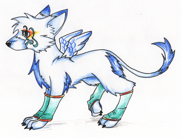 Anime Wolf W/ Wings by Wolffang1998 on DeviantArt