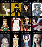 Art Summary 2013 by squidlydes