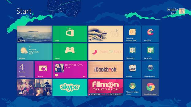 My windows 8 metro start screen