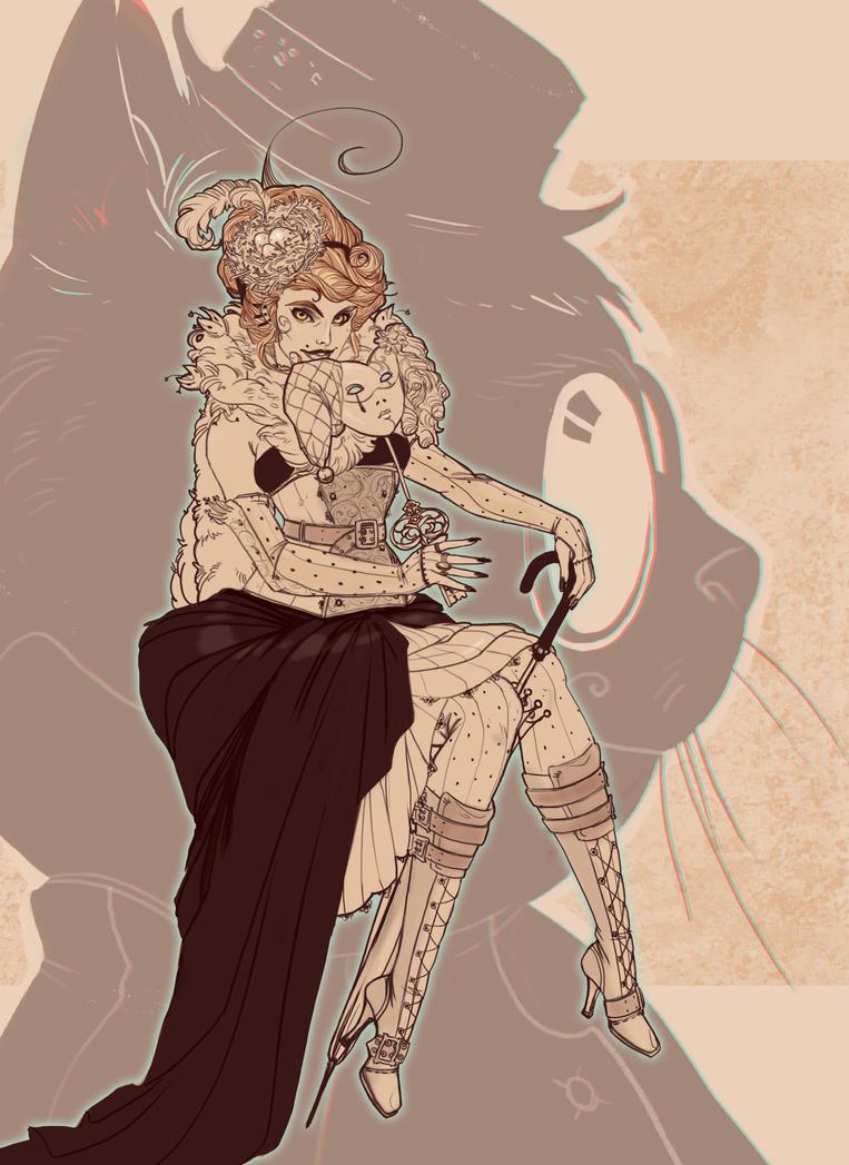 Steampunk Alice the Fox by LZinverse
