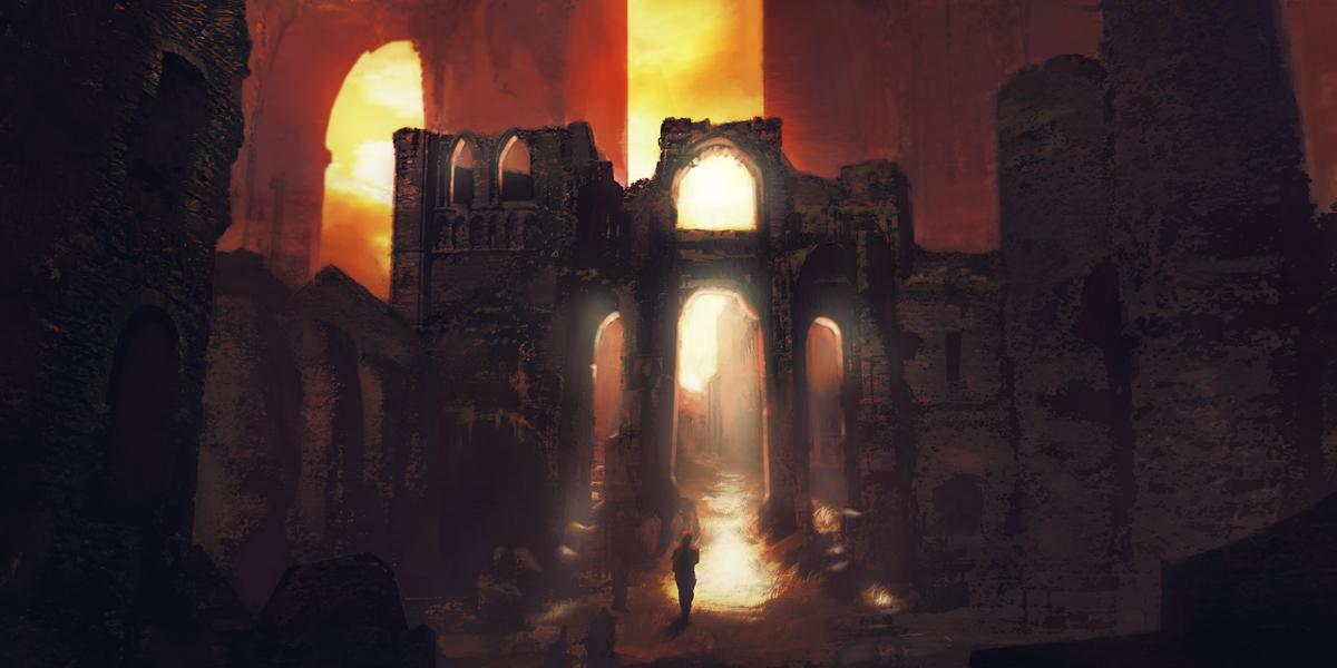 Ruinedgateway by michaeldaviniart