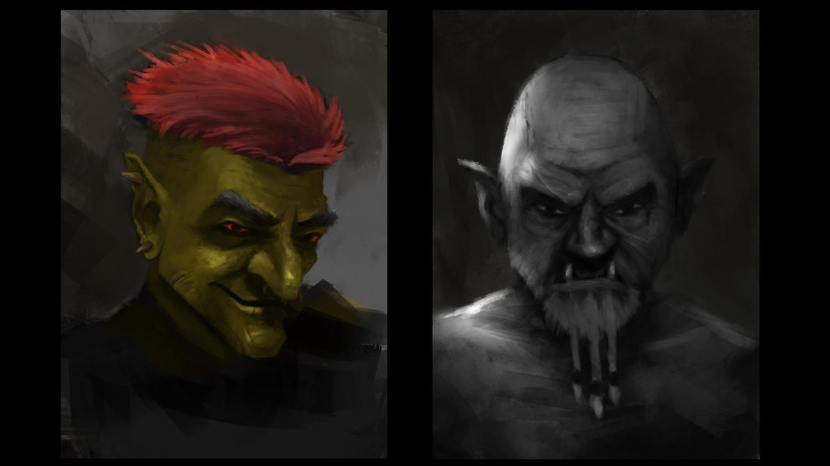 Orc sketches by michaeldaviniart
