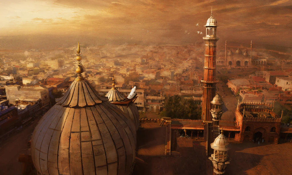 Lookout over New Delhi, circa 1859 by michaeldaviniart
