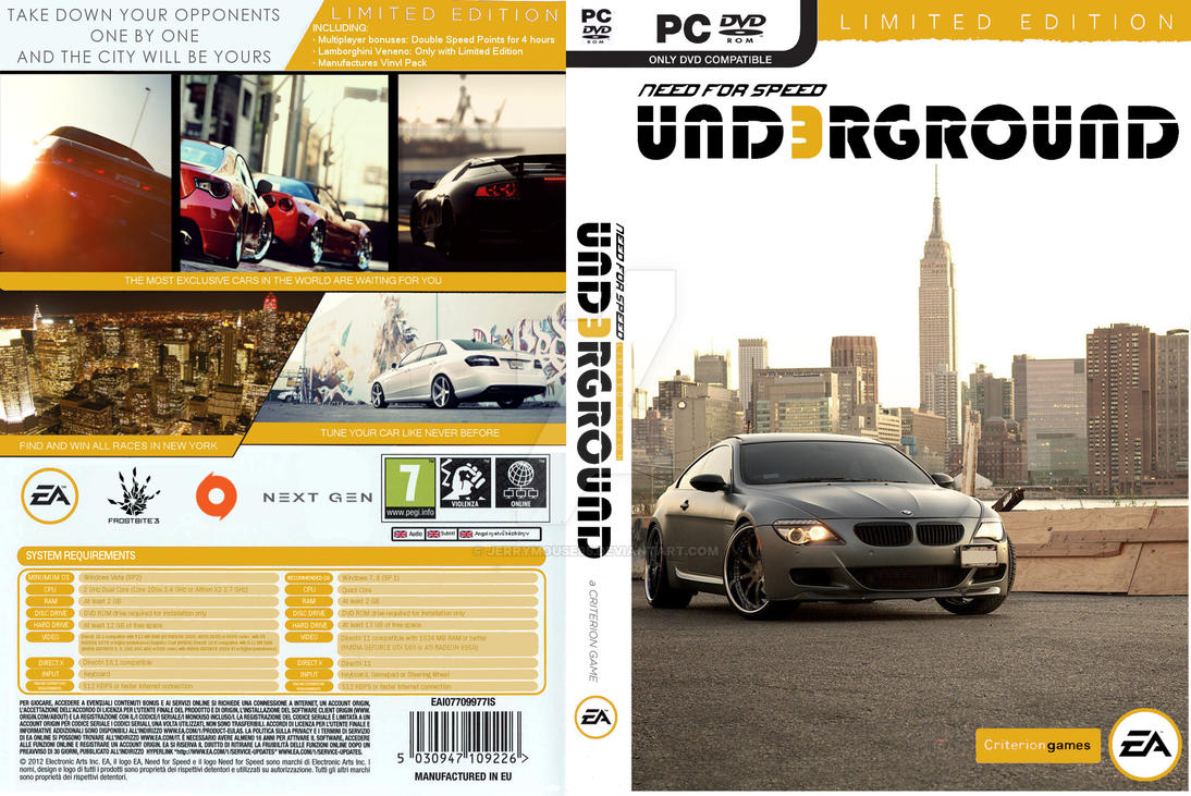 need for speed underground 3 cover 2 0 by jerrymouse95 on deviantart. Black Bedroom Furniture Sets. Home Design Ideas