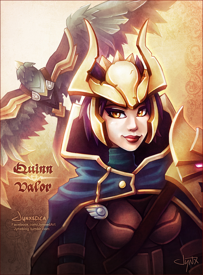 Quinn + Valor | League of Legends by Jynxed-Art