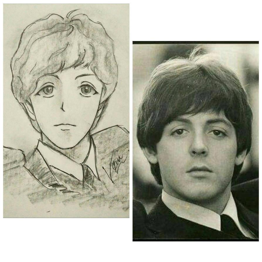 Paul McCartney FanArt Real VS Animated Version By YamadaHaru90