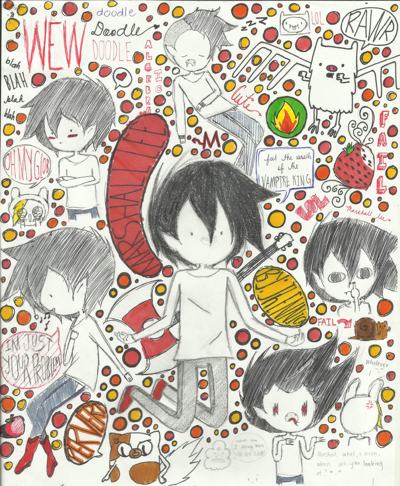 doodle marshall lee ^_^ by Jhennica0987654321