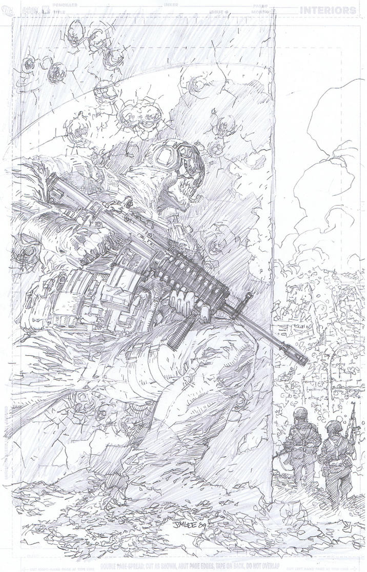 COD cover pencils by Jim Lee by INKIST