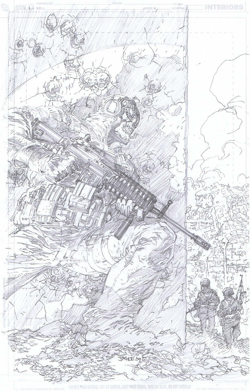 COD cover pencils by Jim Lee