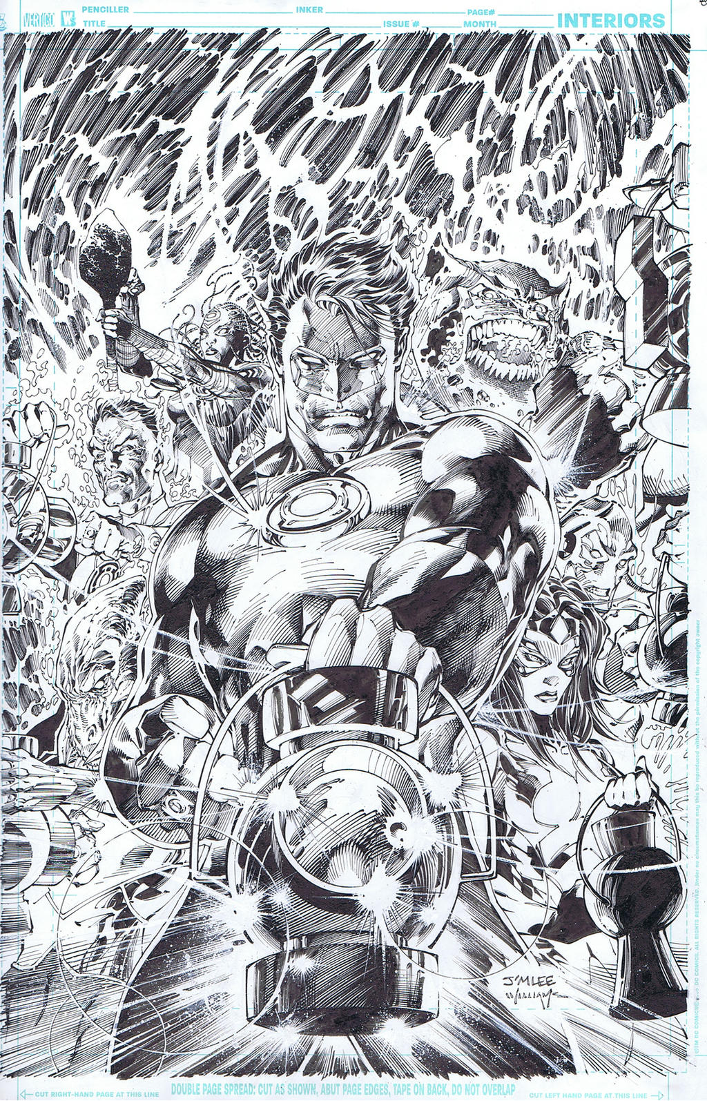 Green Lantern 50 cover by INKIST