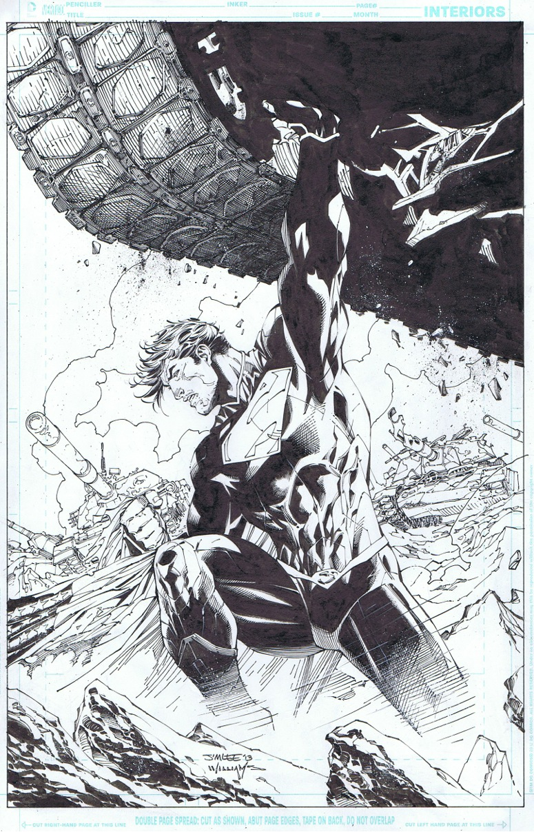 Superman Unchained 2 cover, out tomorrow by INKIST