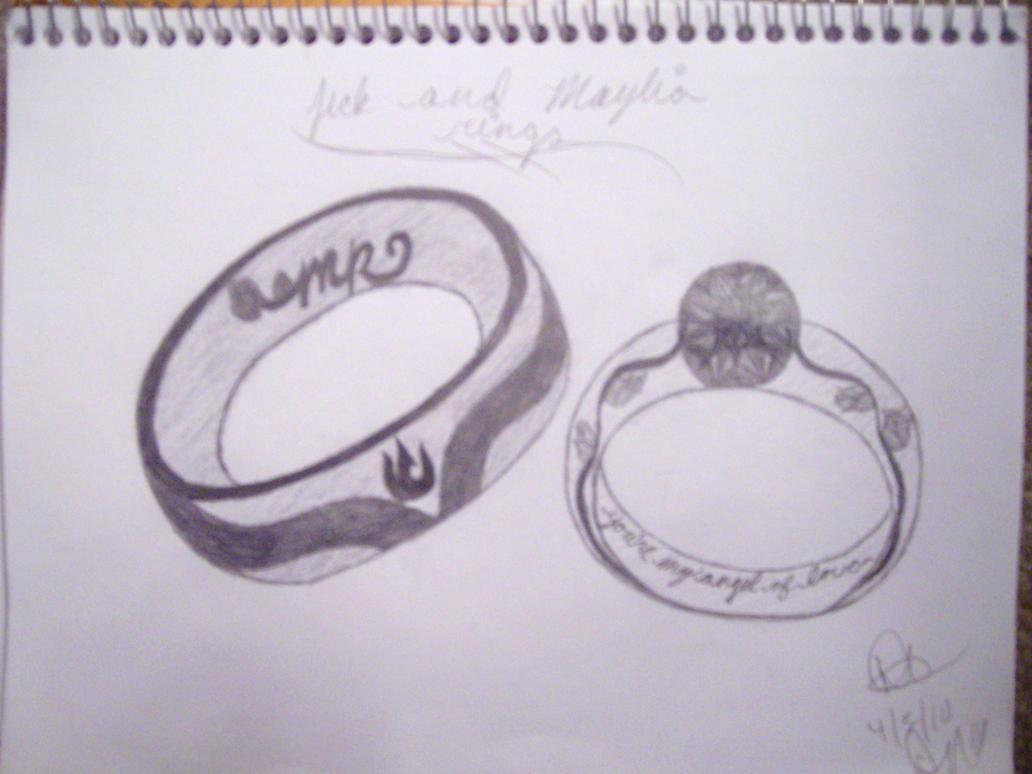 Jick and Maylias Wedding Rings by vaderlicious