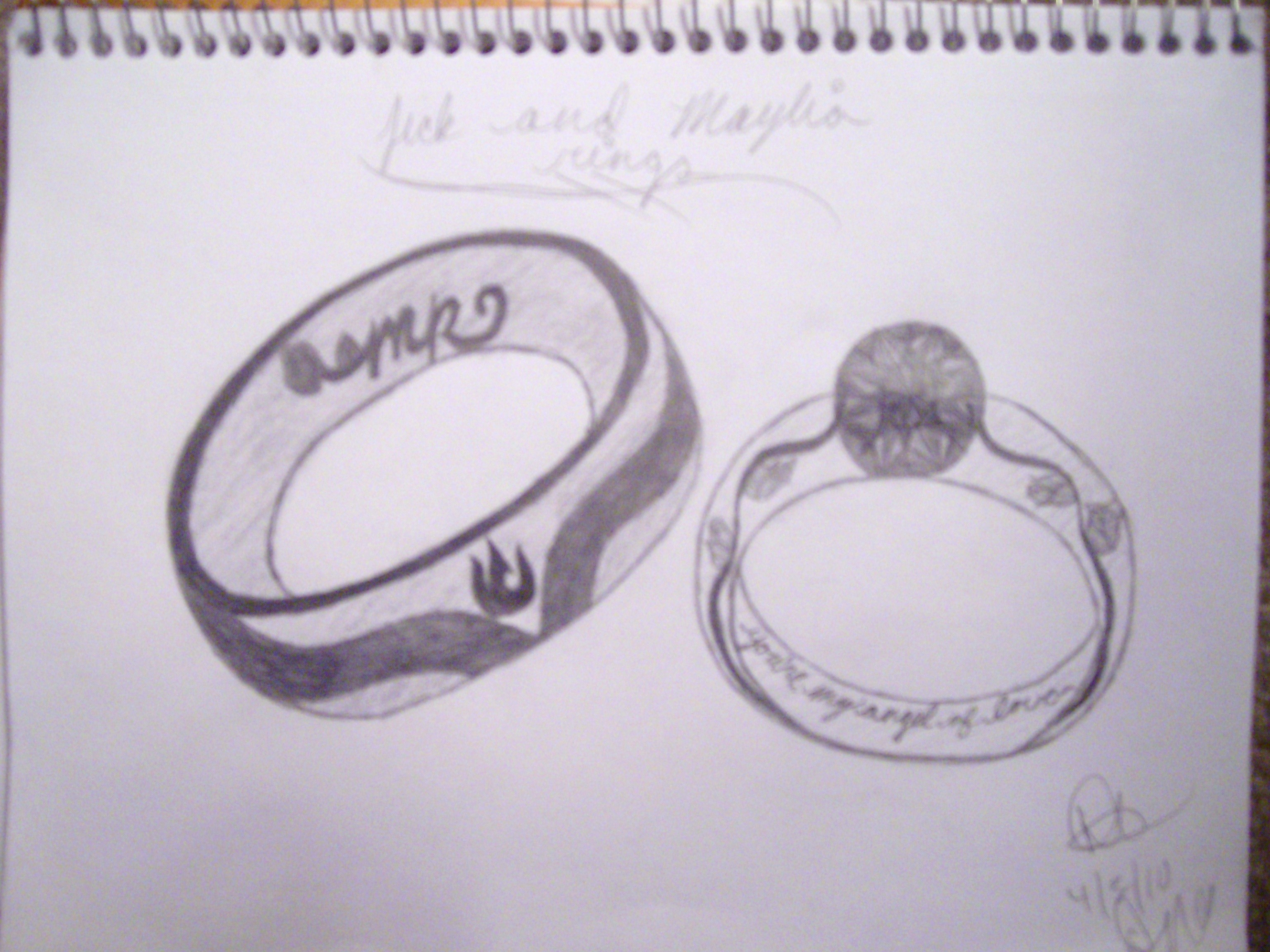Jick and Maylias Wedding Rings by light-yagami5644