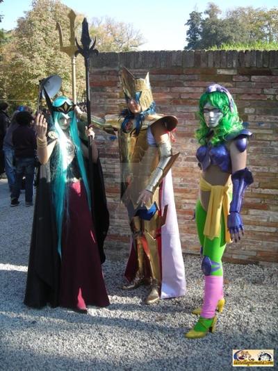 Shaina, Hilda and Poseidon by Lady-Shaina