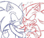 Sonic and shadow sketch