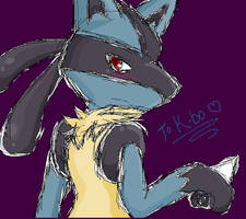 Lucario by Sparky2hot4ya