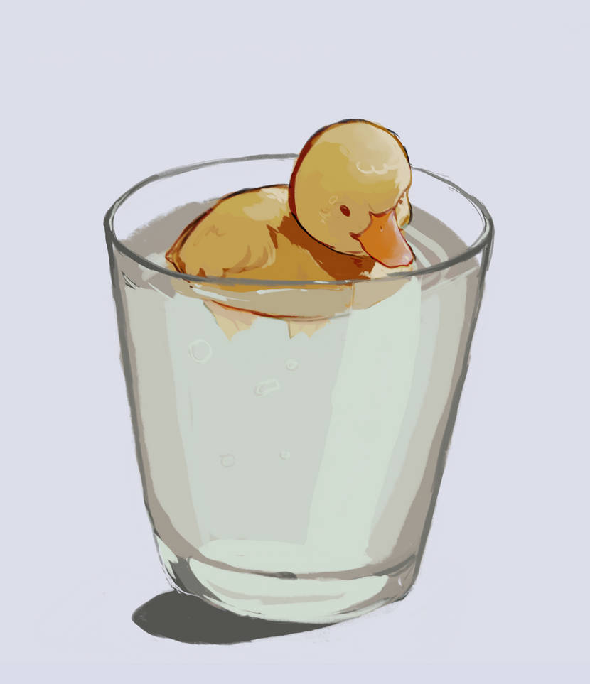 Just a duck in a cup