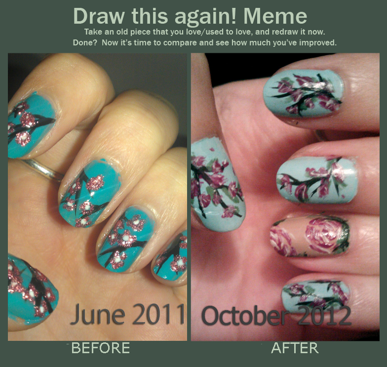 Draw this again - Cherry Blossom Nail Art by Kahlz on DeviantArt
