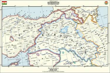 Map of United Kurdistan by IvanZhv