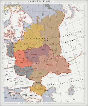 Map of the Russian states