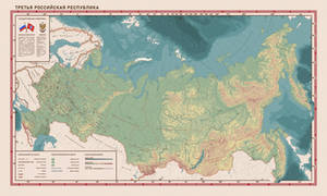 The map of the Third Russian republic
