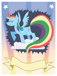 Rainbow Dash Fan Club Poster by t-dijk