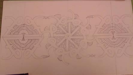 Zentangle wip by Icehawkshadowclan