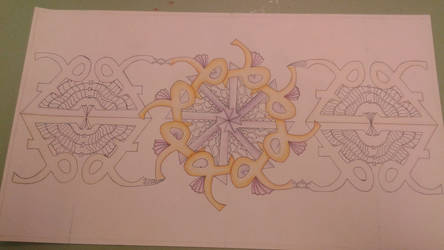 Zentangle design almost done