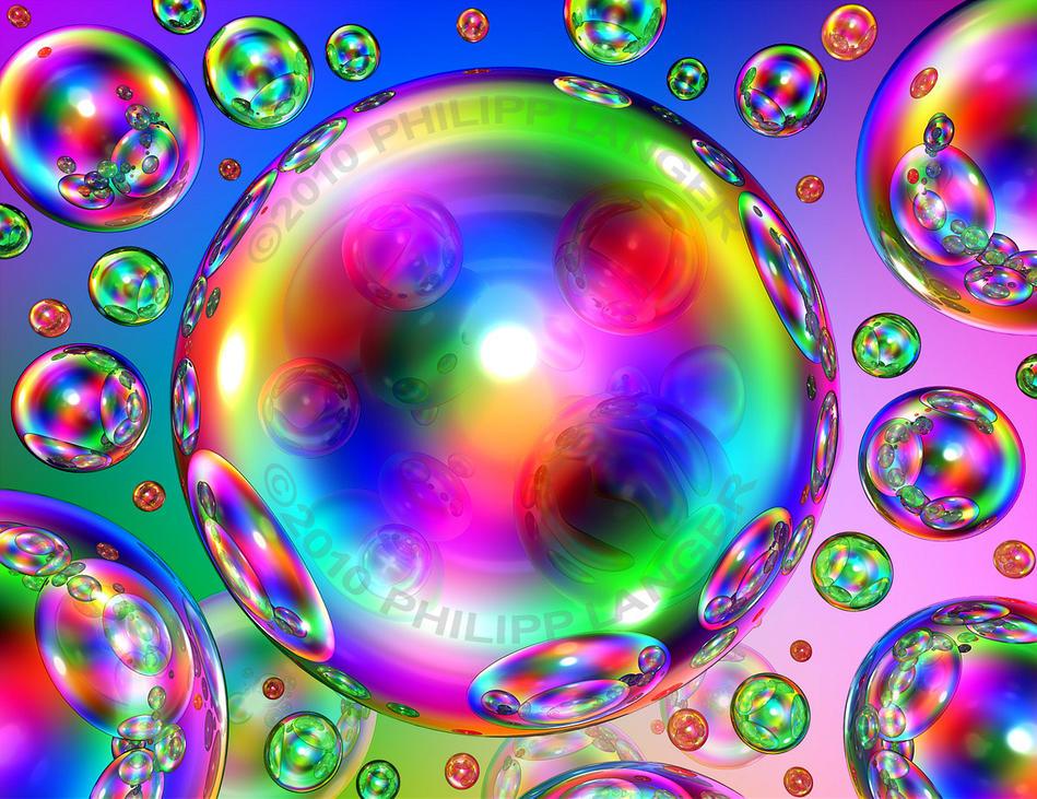 rainbow bubbles colorful - photo #5