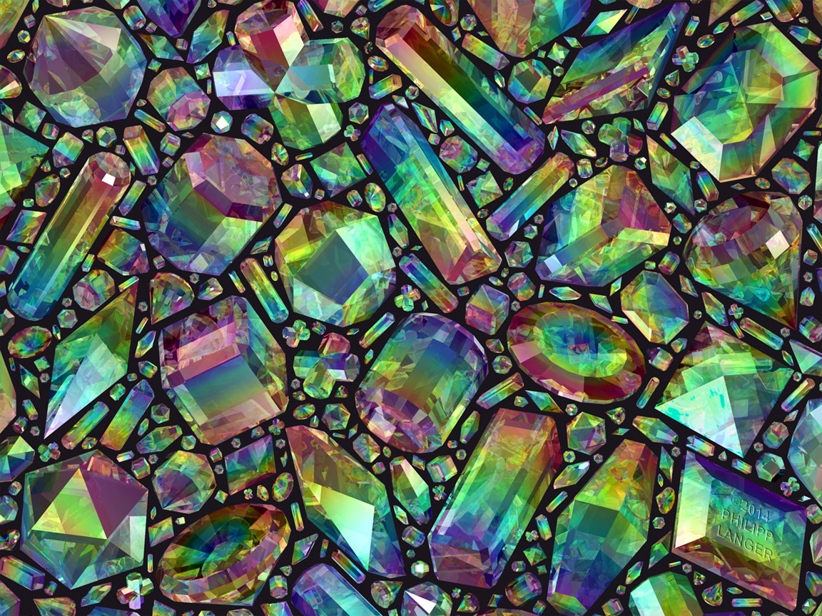 Iridescent Crystals II by robolotion on DeviantArt