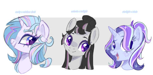 mlp fusion doodles by PeachesAndCreamated