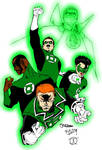 It's Not Easy Being Green (Green Lanterns colours)