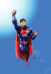 Man of Tomorrow (Superman Colours) by Little--Broling
