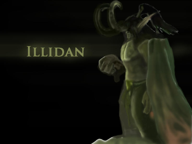 illidan wallpaper wow by ludde740 on deviantart
