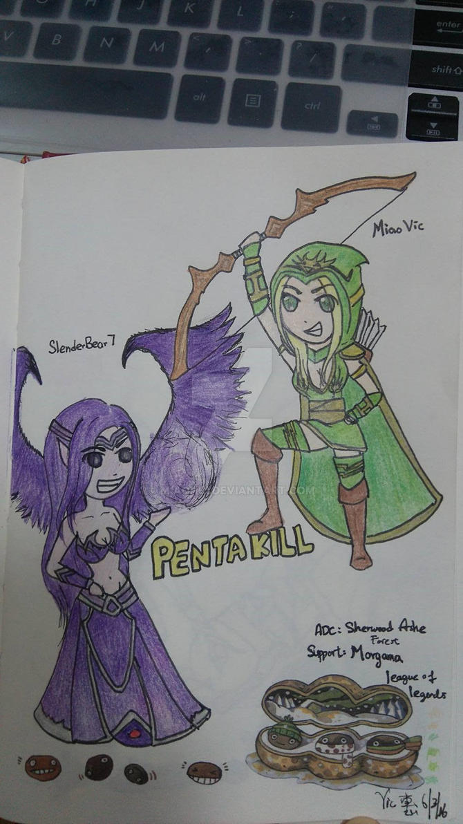 Pentakill with Ashe and best support Morgana by MiaoHui