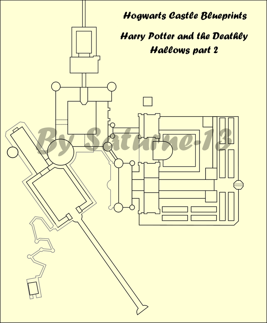 Hogwarts Castle Blueprints Movie 8 By Saturne 13 On