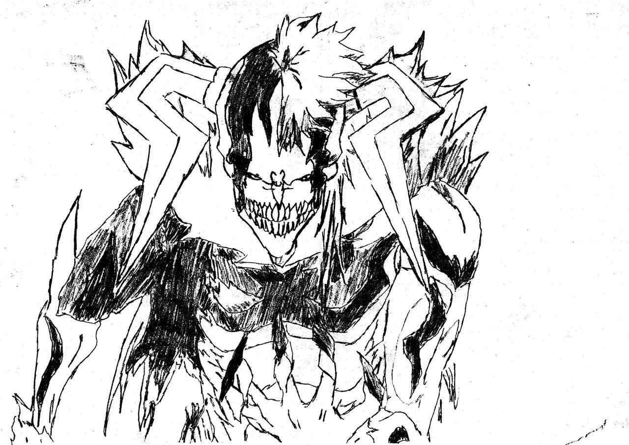Bleach : Ichigo Hollow Drawing By LeNarax On DeviantArt
