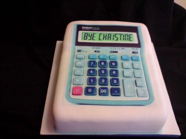 Calculator Cake By Amandasmacarons