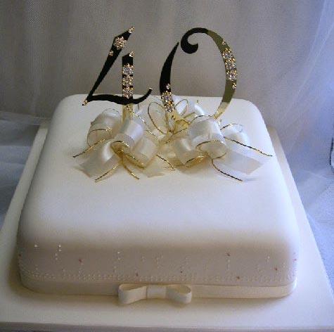 40th Birthday Cake By Amandasmacarons