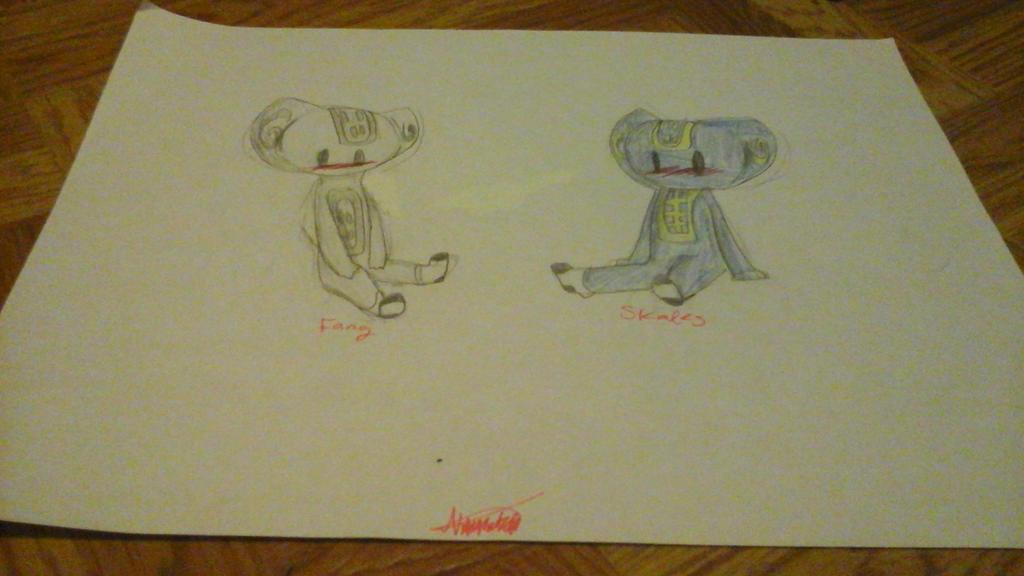 Chibi baby serpentine with socks by RadioactiveRays