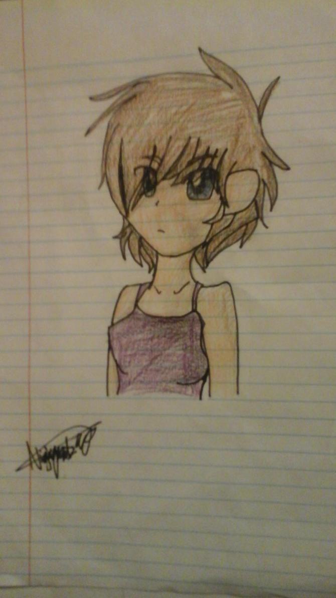 Anime person I drew at school by RadioactiveRays