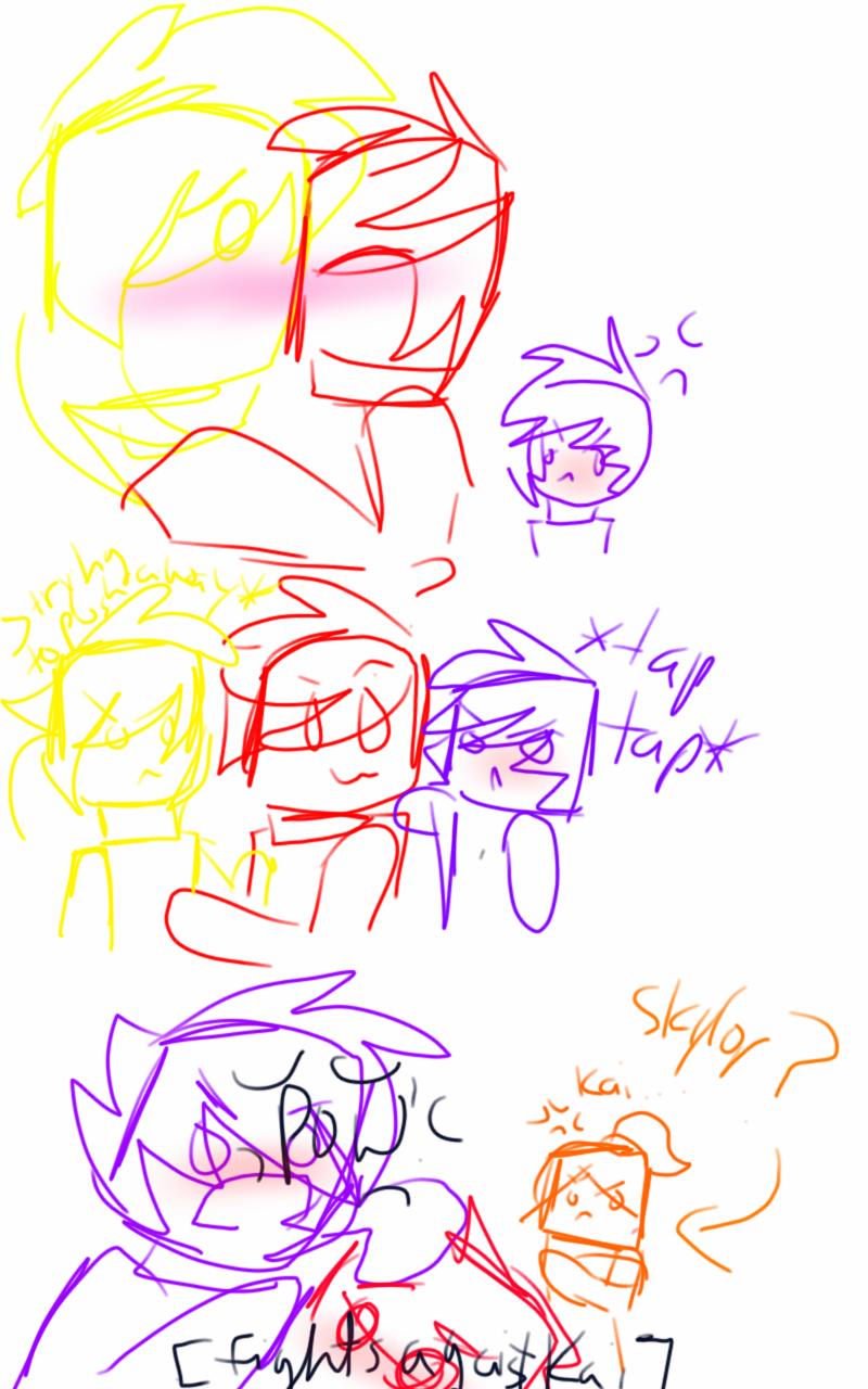 Zaicondri's expression if kai kissed zai by RadioactiveRays