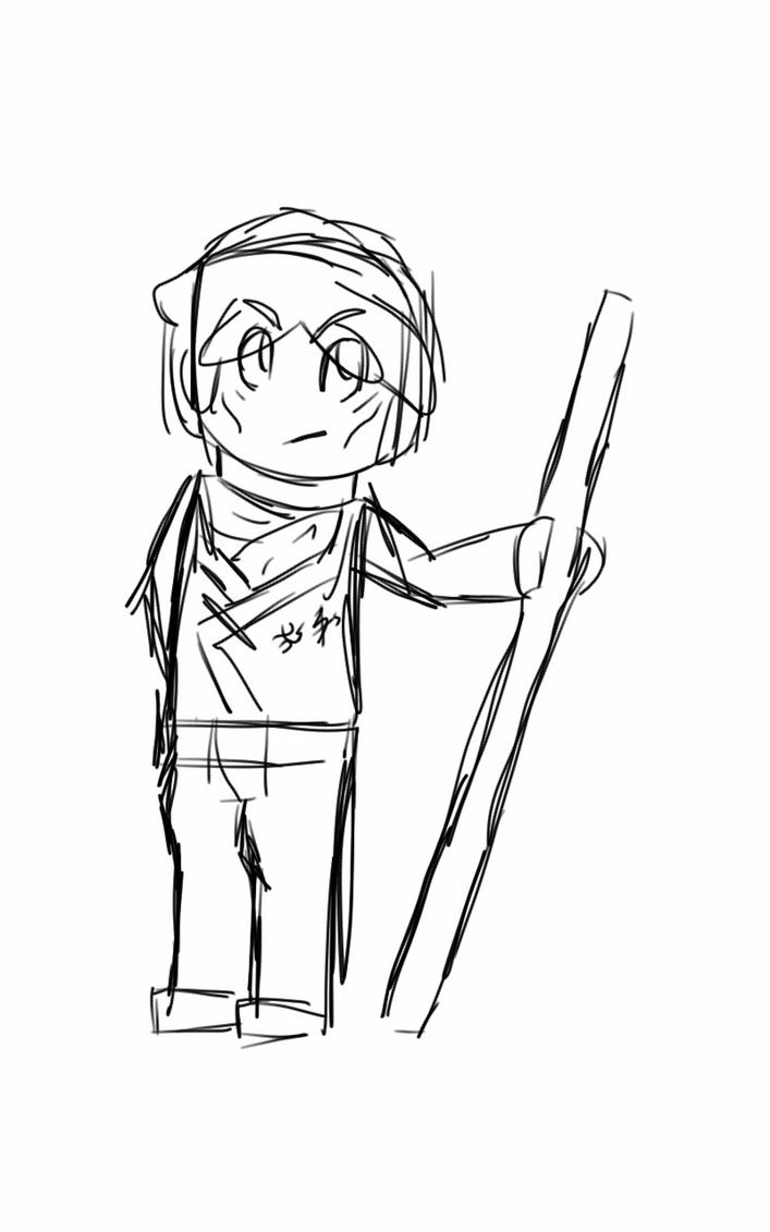 my most favorite ninjago character sketch by RadioactiveRays