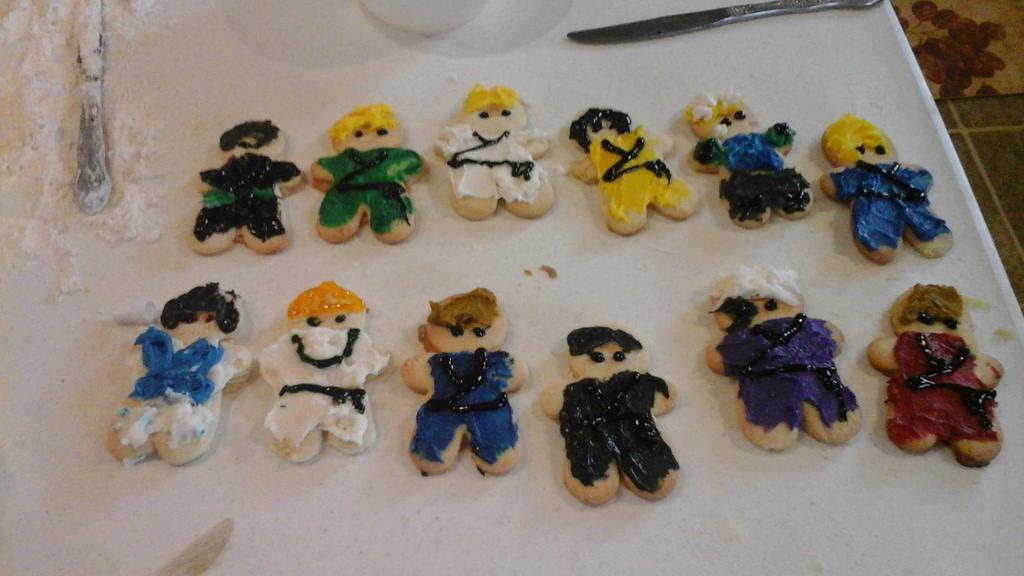 Ninjago cookies by RadioactiveRays
