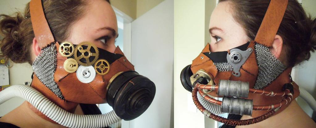 Steampunk Gas Mask by SteampunkTigerlily