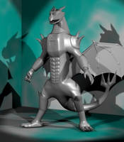 Odjin Battle Armor 3D WIP by LordOfDragons