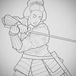 WIP Samurai Lineart