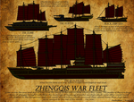 Zhengqis ancient war fleet.
