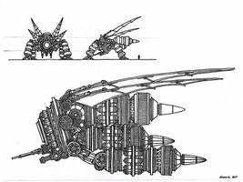 Tenebrae imperium DX1-20S Autonomous Fighter GEN-1 by Athalai-Haust