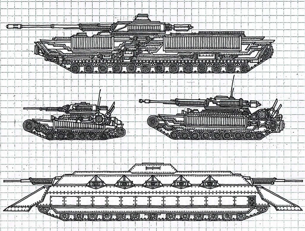 Tenebrae Imperium Tanks No.1 WIP by Athalai-Haust